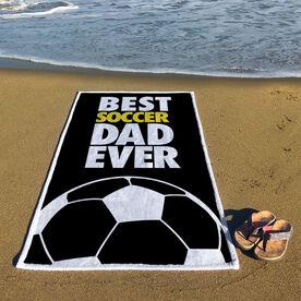 Soccer Premium Beach Towel - Best Dad Ever
