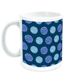 Volleyball Coffee Mug Multi Color Ball Pattern