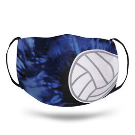Volleyball Face Mask - Volleyball Tie-Dye