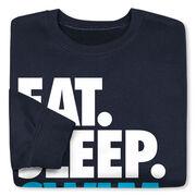 Swimming Crew Neck Sweatshirt - Eat Sleep Swim