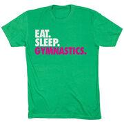 Gymnastics T-Shirt Short Sleeve Eat. Sleep. Gymnastics.