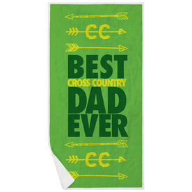 Cross Country Premium Beach Towel - Best Dad Ever