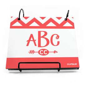 BibFOLIO® Race Bib Album - Chevron Monogram