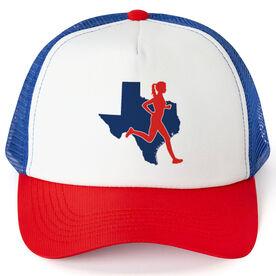 Running Trucker Hat - Texas Female Runner