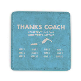 Swimming Stone Coaster - Thanks Coach Roster (Male)