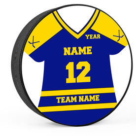 Personalized Hockey Jersey Hockey Puck