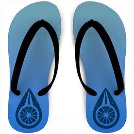 Triathlon Flip Flops Swim Bike Run Water Droplet