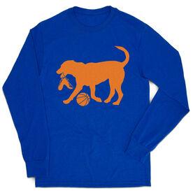 Basketball Tshirt Long Sleeve - Baxter The Basketball Dog