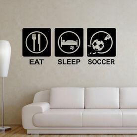 Eat Sleep Soccer ChalkTalkGraphix Wall Decal