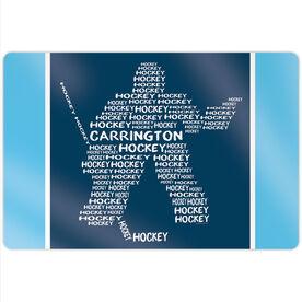 "Hockey 18"" X 12"" Aluminum Room Sign - Personalized Hockey Words Player Goalie"