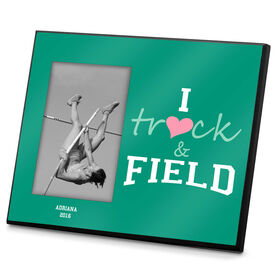 Track & Field Photo Frame I Heart Track And Field