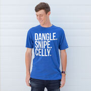 Hockey Short Sleeve T-Shirt - Dangle Snipe Celly Words