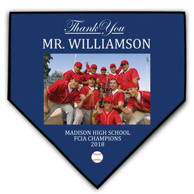 Baseball Home Plate Plaque - Thank You With Photo