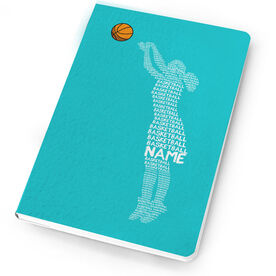 Basketball Notebook Personalized Basketball Words Girl