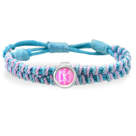 Softball Girl Stick Figure Adjustable Woven SportSNAPS Bracelet