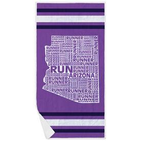 Running Premium Beach Towel - Arizona State Runner