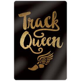 "Track & Field 18"" X 12"" Aluminum Room Sign - Track Queen"