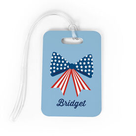 Cheerleading Bag/Luggage Tag - Red White & Bows