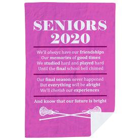 Girls Lacrosse Premium Blanket - Seniors 2020 Our Future Is Bright