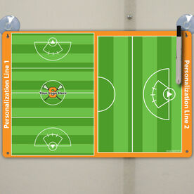 "Lacrosse Custom Dry Erase Coach Board Girls Full And Half Field - 18"" X 12"""