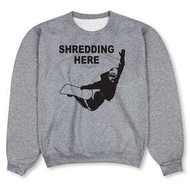 Snowboarding Crew Neck Sweatshirt - Shredding Here
