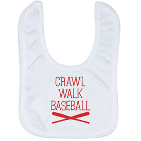 Baseball Baby Bib - Crawl Walk Baseball