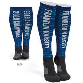 Swimming Printed Knee-High Socks - Swim Team Name