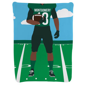 Football Baby Blanket - Football Player