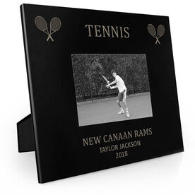 Tennis Engraved Picture Frame - Tennis & Crossed Rackets