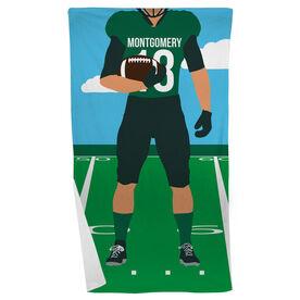 Football Beach Towel - Football Player