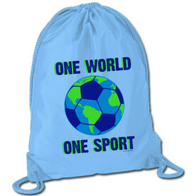 Soccer Sport Pack Cinch Sack One World One Sport