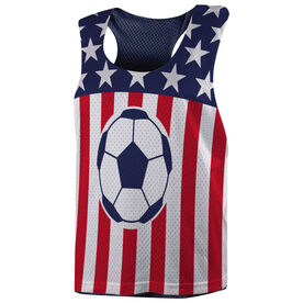 Soccer Racerback Pinnie - USA Soccer Girl