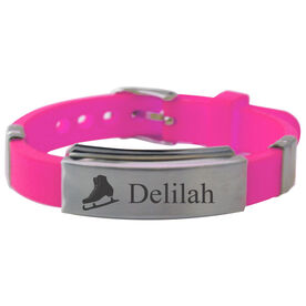 Personalized Figure Skate Silicone Bracelet