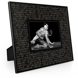 Wrestling Engraved Picture Frame - Wrestling Terminology