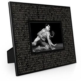 Wrestling Engraved Picture Frame - Wrestling Terminology