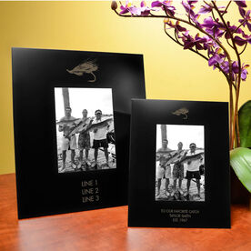Fly Fishing Engraved Picture Frame - Fly