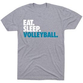 Volleyball T-Shirt Short Sleeve Eat. Sleep. Volleyball.