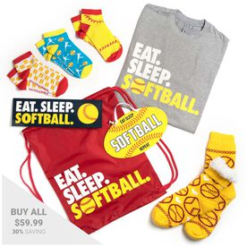 Softball Swag Bagz - Eat. Sleep. Softball