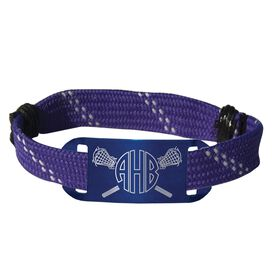 Lacrosse Shooting String Bracelet Monogrammed Crossed Lacrosse Stick Adjustable Shooter Bracelet