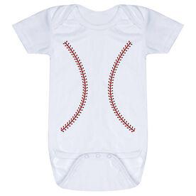 Baseball Baby One-Piece - Stitches