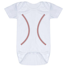 Baseball Baby One-Piece - Stitches