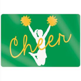 """Cheerleading 18"""" X 12"""" Aluminum Room Sign - Cheer Girl"""