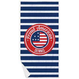 Personalized Premium Beach Towel - Proud American
