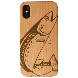 Fly Fishing Engraved Wood IPhone® Case - Trout