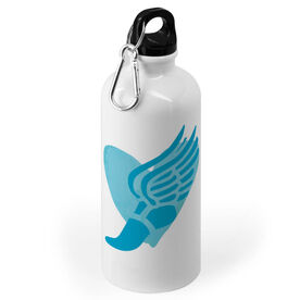 Track and Field 20 oz. Stainless Steel Water Bottle - Watercolor Heart Winged Foot
