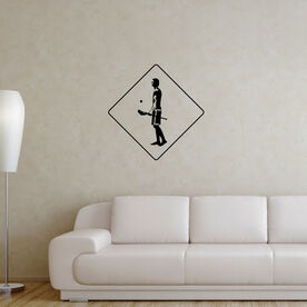 Guys Lacrosse Removable ChalkTalkGraphix Wall Decal - Lax Crossing
