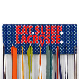 Guys Lacrosse Hooked on Medals Hanger - Eat Sleep Lacrosse Mesh