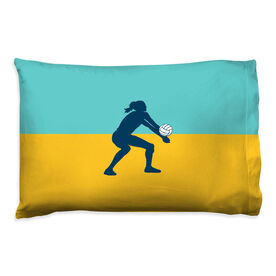 Volleyball Pillowcase - Girl Silhouette