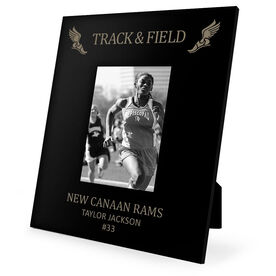 Track & Field Engraved Picture Frame - Winged Foot