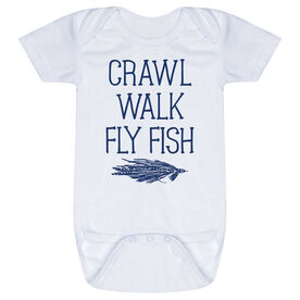 Fly Fishing Baby One-Piece - Crawl Walk Fly Fish
